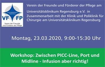 """Veranstaltungstipp """"Zwischen PICC-Line, Port und Midline"""""""